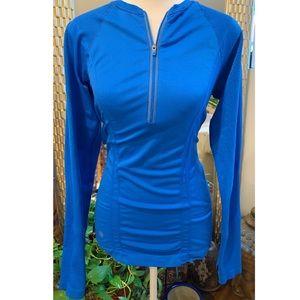 ATHLETA Blue Tracker Pullover